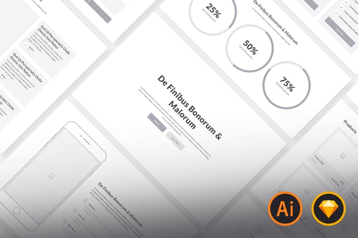 Thumbnail for Web Wireframe Kit