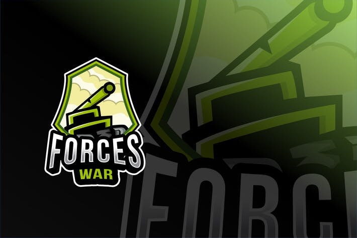 Thumbnail for Forces War Esport Logo Template