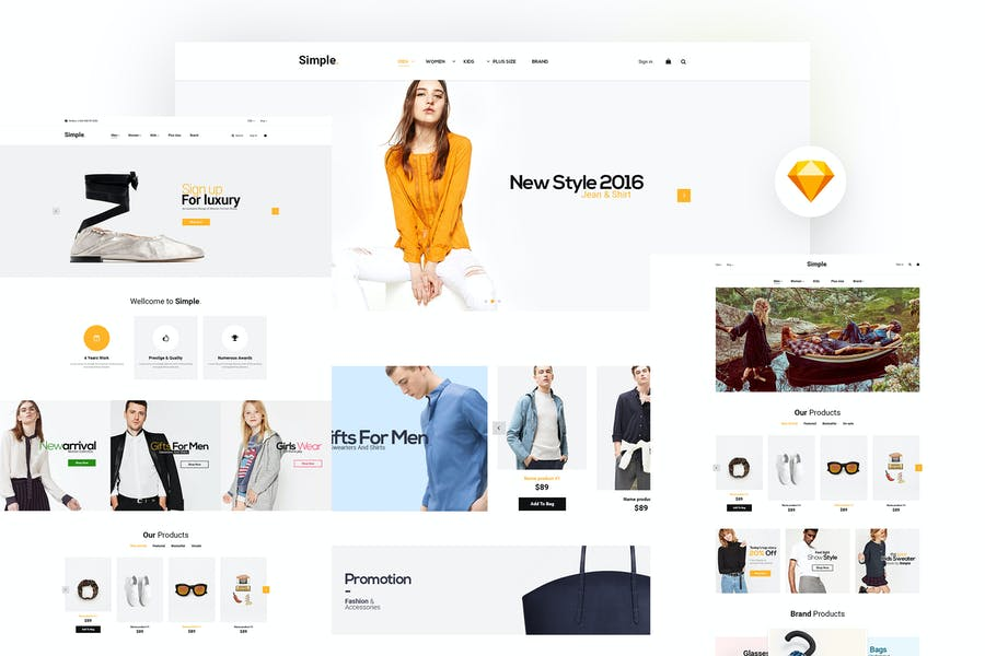Simple - Ecommerce Sketch Template