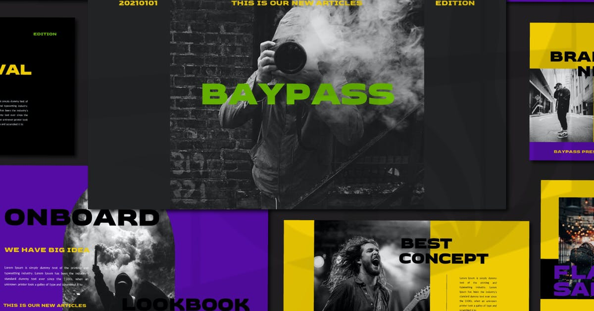 Download Bypass Powerpoint Template by axelartstudio