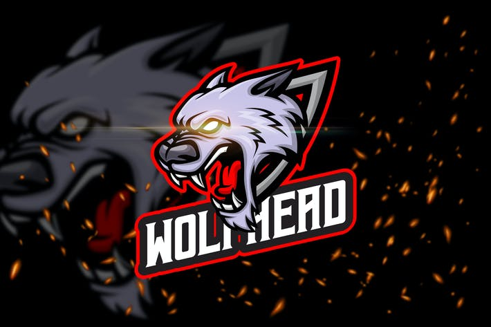 Thumbnail for Wolf Head - Angry Animal eSport Logo Template