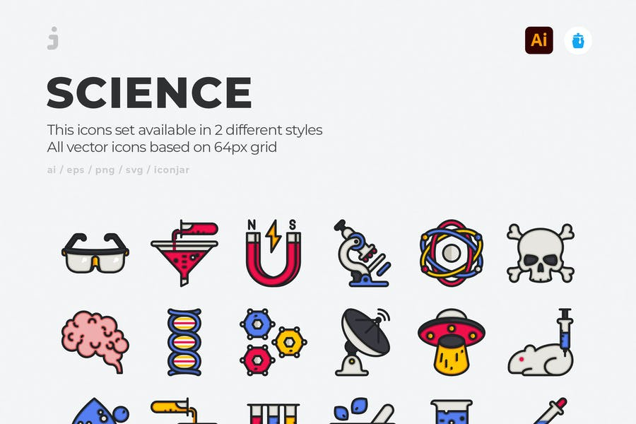 30 Science Icons