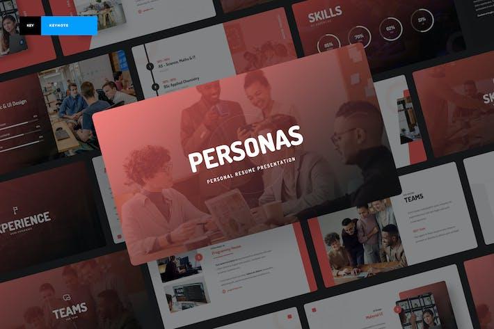 Thumbnail for Personas - Personal Portfolio Keynote Presentation