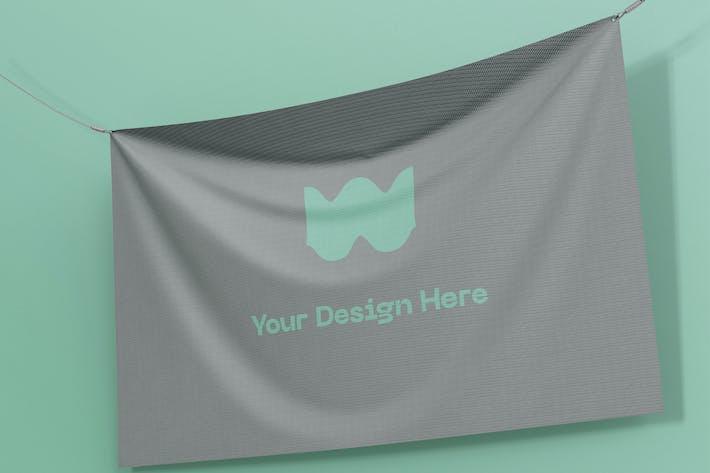 Thumbnail for Banner Flaggen-Mockup