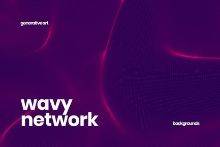 Wavy Network Backgrounds