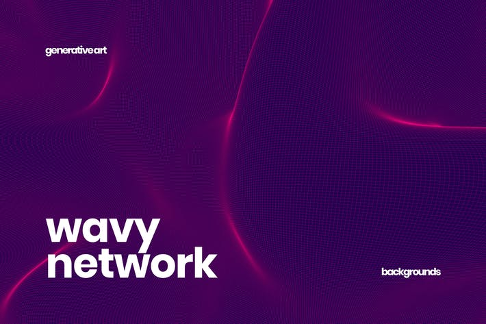 Cover Image For Wavy Network Backgrounds