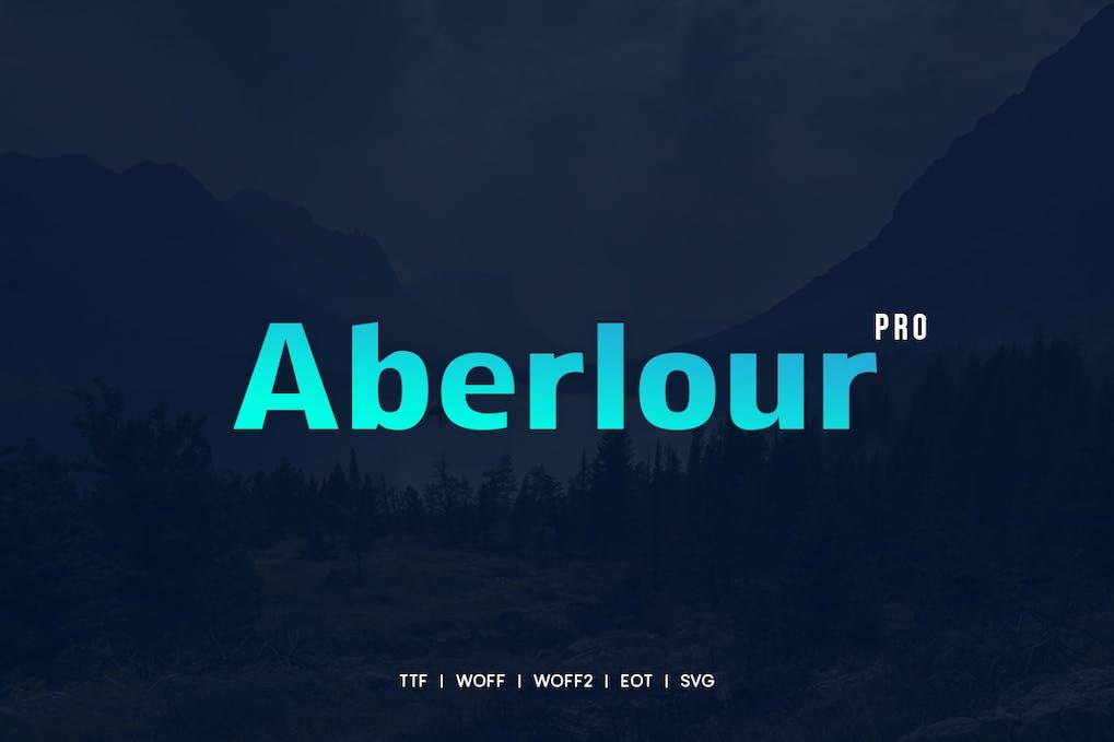 Aberlour - Modern Typeface + WebFonts by webhance on Envato