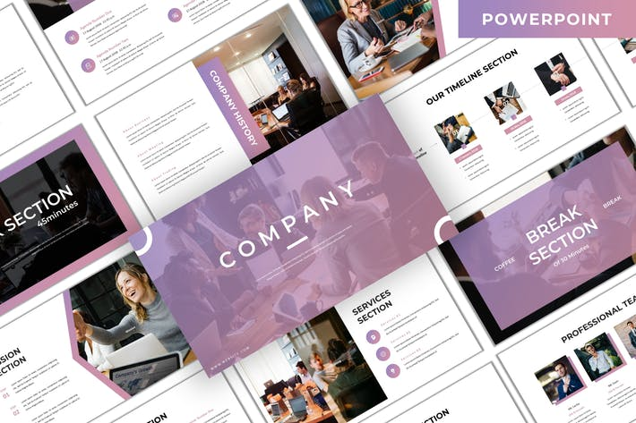 Thumbnail for Company - Business Powerpoint Template