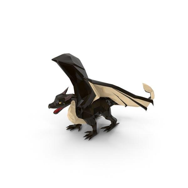 Low Poly Black Dragon