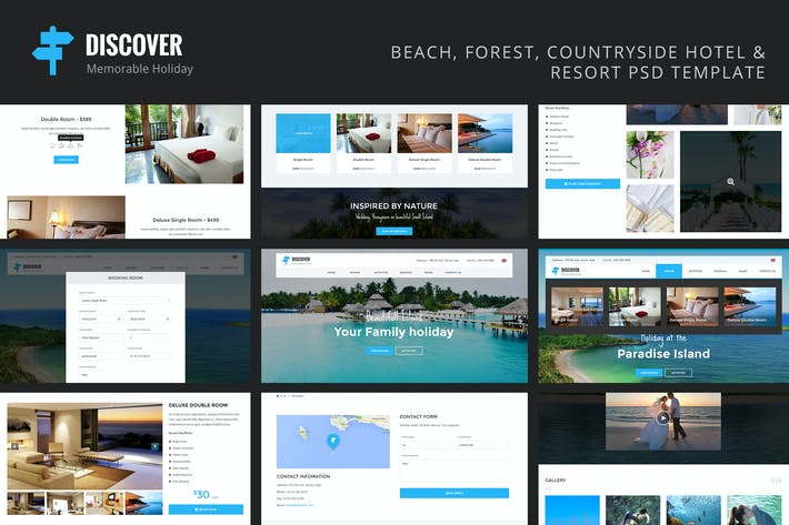Thumbnail for Discover - Countryside Hotel & Resort Template