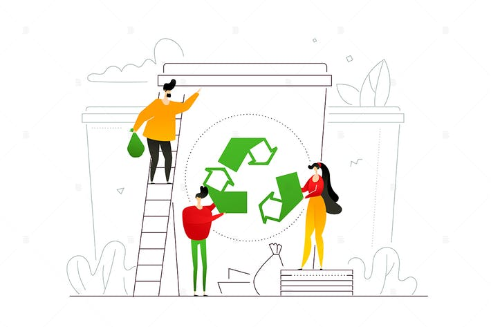 Thumbnail for Recycling - flat design style illustration