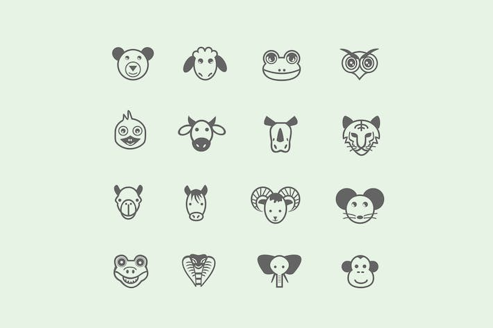 Thumbnail for 16 Cartoon Animal Icons