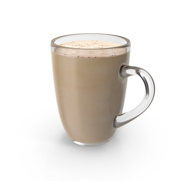 Thumbnail for Big Glass Coffee Cup With Milk