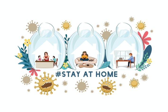 Thumbnail for Stay at home #stayathome - COVID19 concept