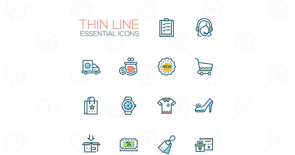 Online store - modern vector single line icons by BoykoPictures