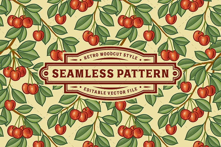 Thumbnail for Seamless Cherry Pattern