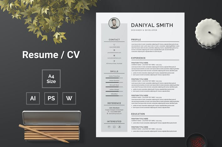 Thumbnail for Resume Template 127
