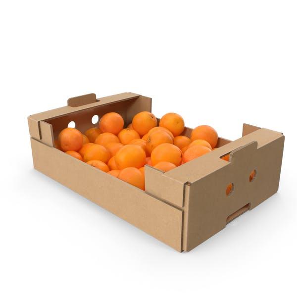 Картонная коробка с апельсинами