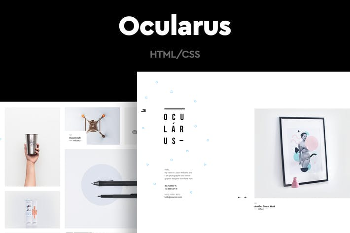 Thumbnail for Ocularus - Minimal Photography HTML Template
