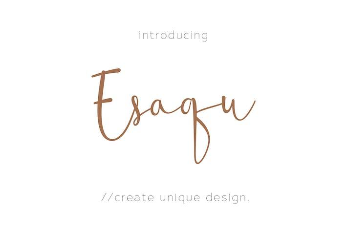 Thumbnail for Esaqu - Modern & Feminine Fonts!