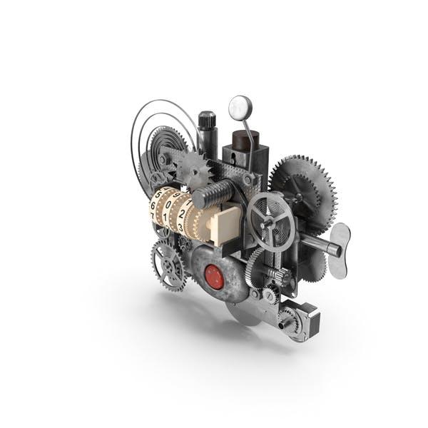 Uhrwerk Gear mit Gegenmechanismus Silber