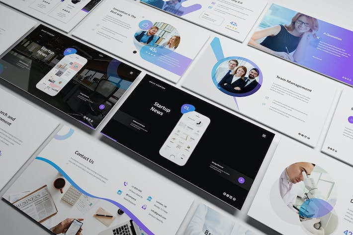 Thumbnail for Startup Pitch Deck Powerpoint Template
