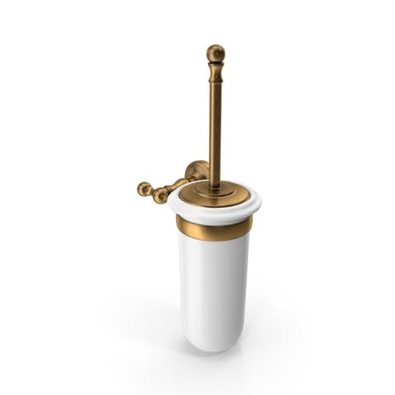 Toilet Brush Bronze Porcelain