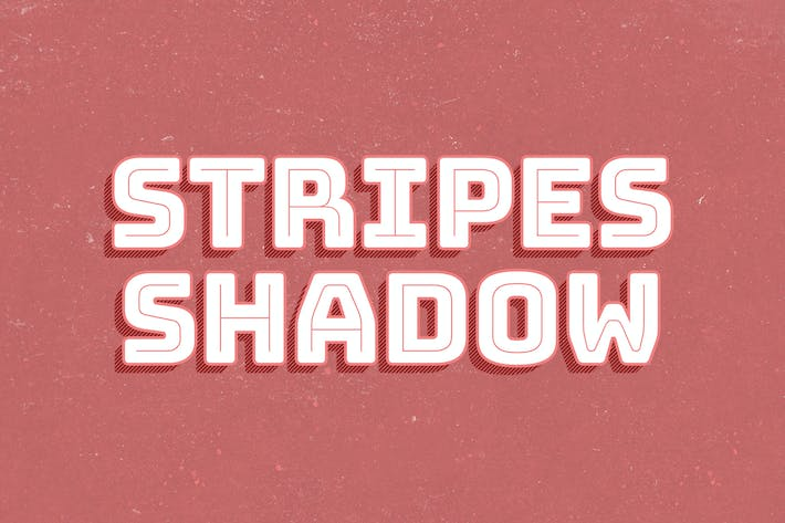Thumbnail for Stripes Shadow Text Effect