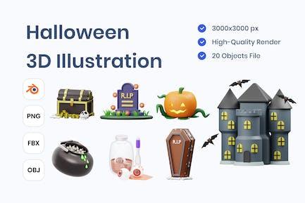 Halloween 3D Illustration