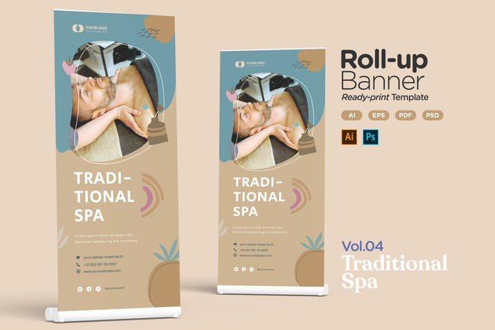Thumbnail for Roll-up Banner Vol.04 Traditional Spa Treatment