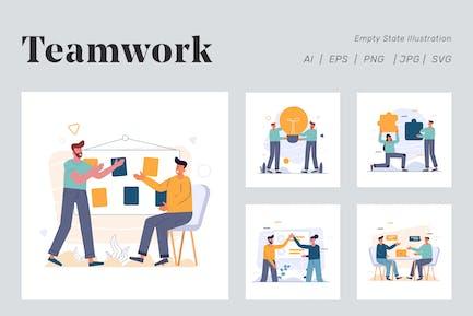 Иллюстрация рабочей группы для пустого состояния