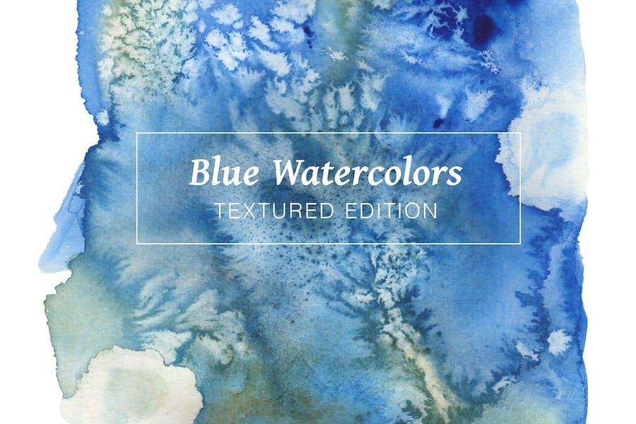 Blaue strukturierte Aquarelle