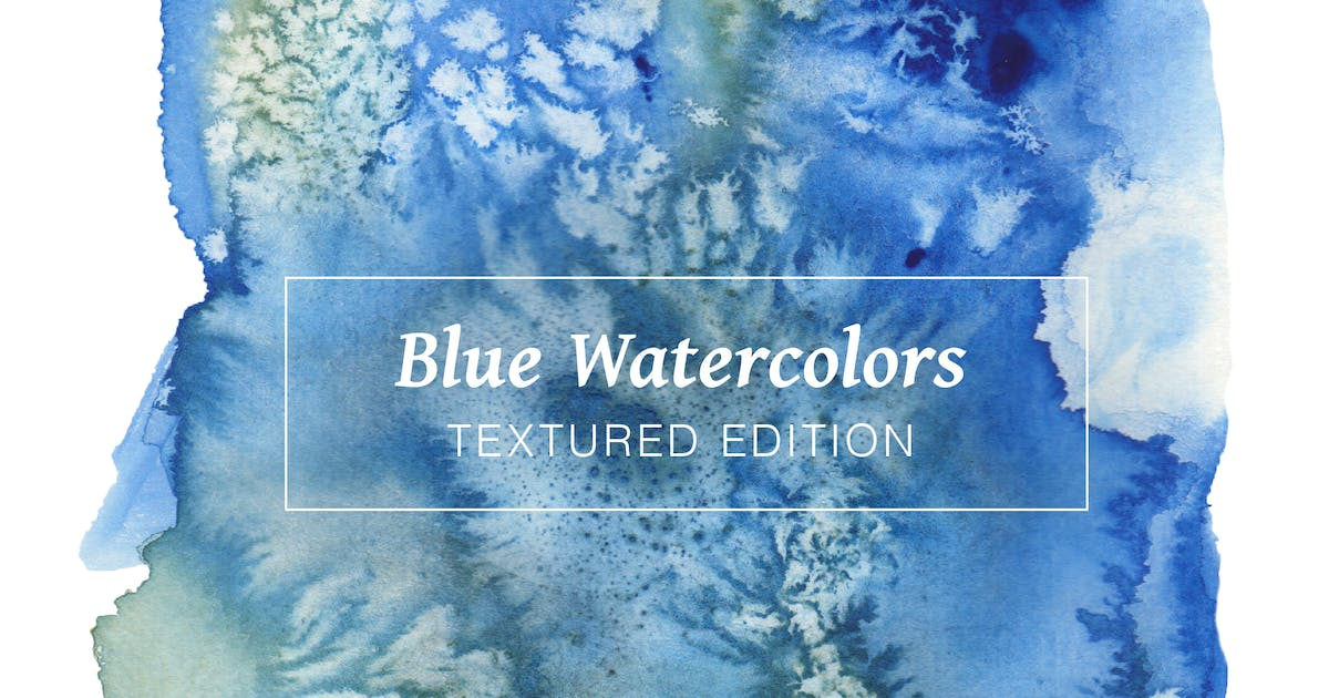 Download Blue Textured Watercolors by casscappello