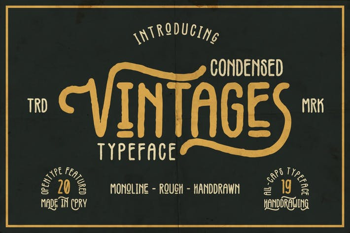Thumbnail for Vintages | Rough Vintage Font