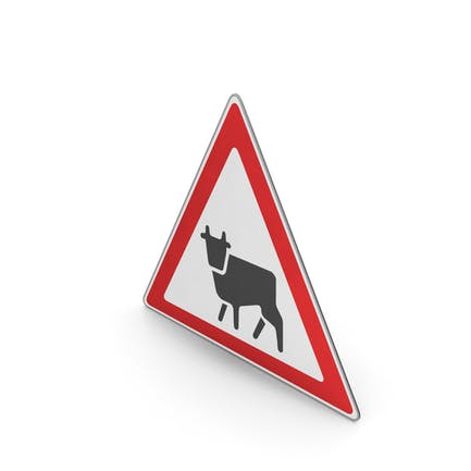 Road Sign Watch For Farm Animals