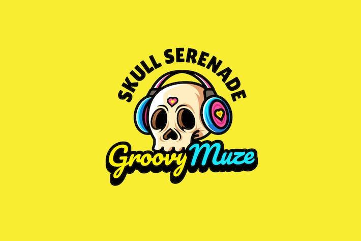 Thumbnail for skull headphone - Mascot Logo