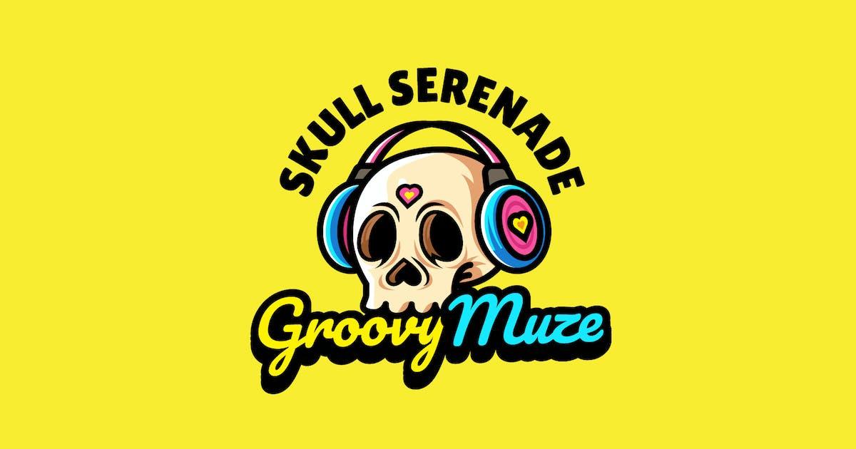 Download skull headphone - Mascot Logo by aqrstudio