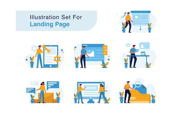 Thumbnail for Illustration Set for Landing Page