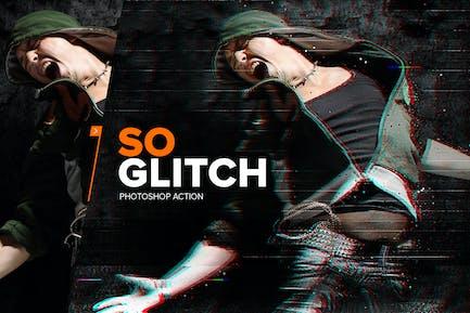SOGlitch Photoshop Acción