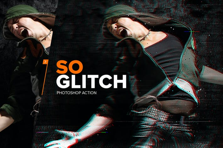 Thumbnail for SoGlitch Photoshop Action