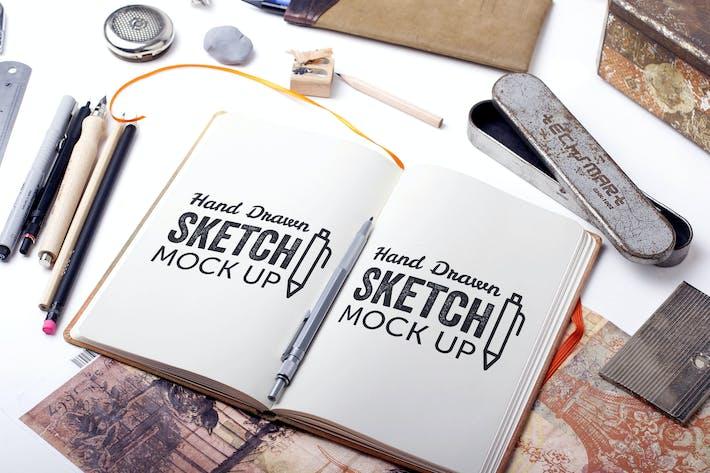 Thumbnail for Sketch Et Dessin Mockup Modèle #6