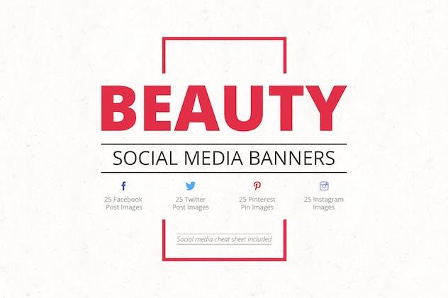 Beauty Social Media Banners