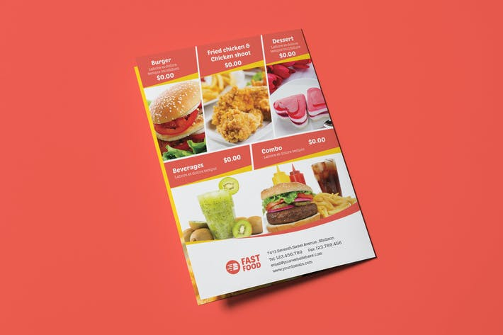 Cover Image For Restaurant/ Fast Food - Menu Template