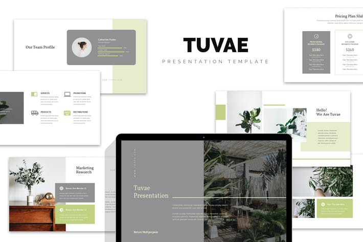 Thumbnail for Tuvae : Eco Friendly  & Green Business Powerpoint