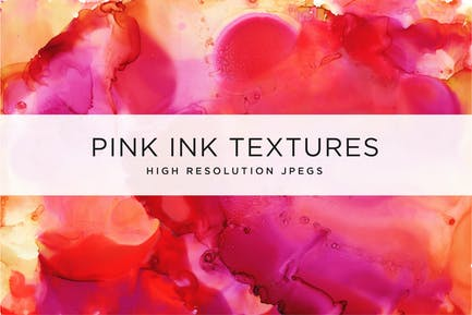Pinke Tinte Texturen