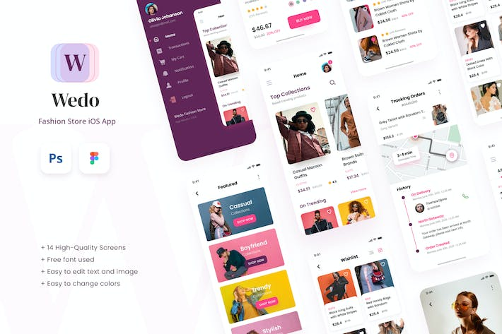 Thumbnail for Wedo - Fashion Store iOS App Design UI Template