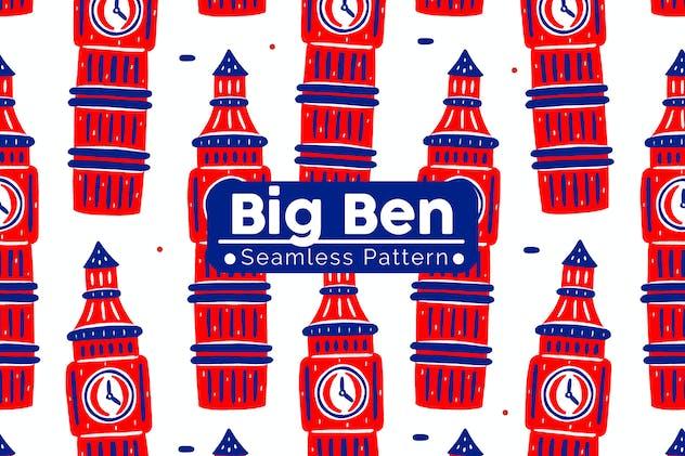 Big Ben Seamless Pattern