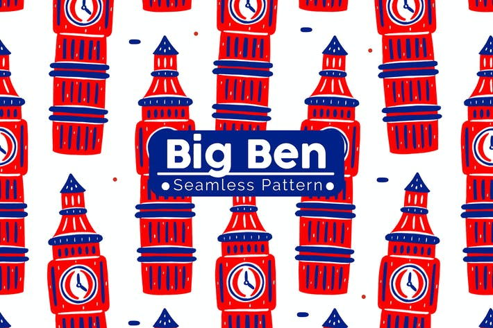 Thumbnail for Big Ben Seamless Pattern