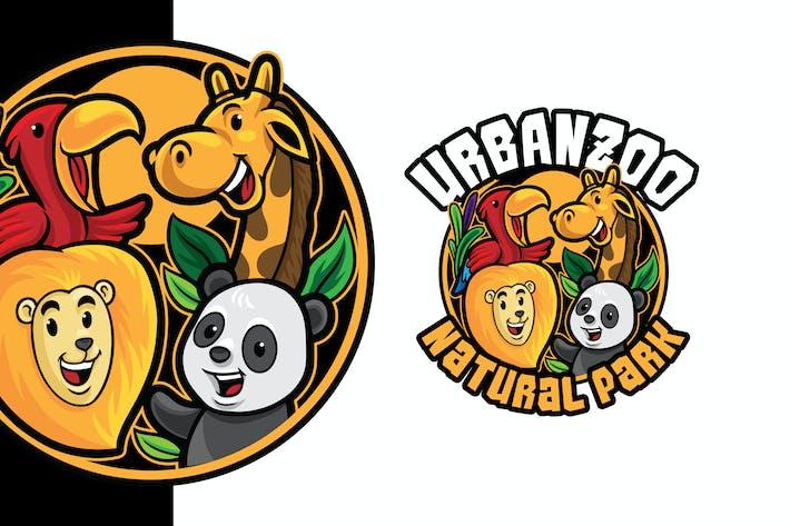 Thumbnail for Zoo Logo Mascot Template