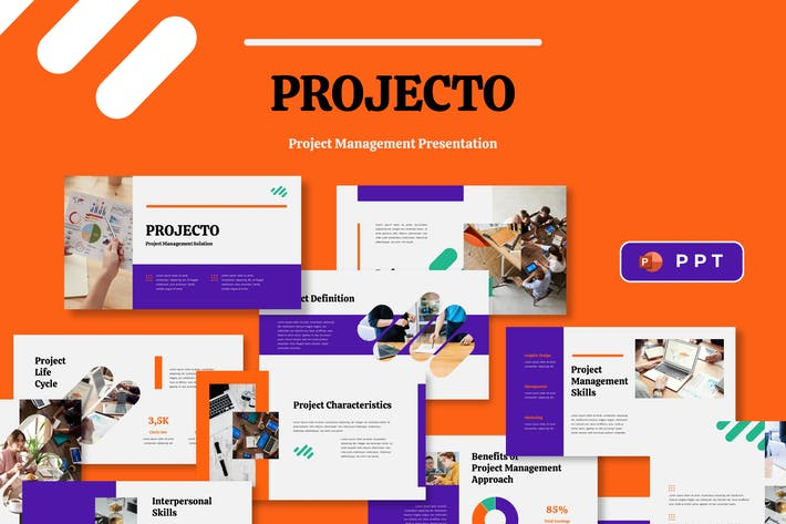 Thumbnail for PROJECTO - Project Management Powerpoint Template